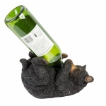 Naturecraft Black Bear Wine Bottle Holder