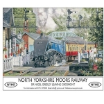 North Yorkshire Moors Railway Metal Wall Sign 40 cm x 30 cm