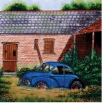 Old Morris Minor Square Tile