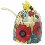 Old Tupton Ware Poppy Honey Pot and Spoon