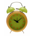 Orange Novelty Double Bell Alarm Clock