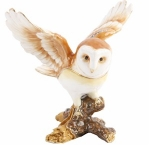 Owl in Flight Trinket Box