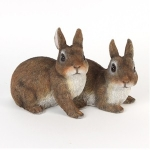 Pair of Lying Rabbits Ornament