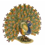 Peacock Fan Trinket Box