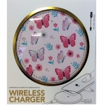 Pink Butterfly Wireless Phone Charger for QI Phones