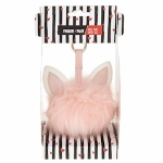 Pink Cat Pom Pom Portable Charger / Power Bank