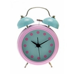 Pink Novelty Double Bell Alarm Clock