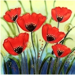 Poppy Group Square Tile
