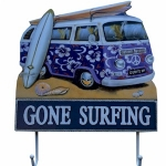 Purple Campervan Plaque with Hooks