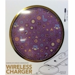 Purple Wireless Phone Charger for Qi Phones