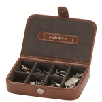 Mele and Co Tan Brown Cufflink Box
