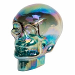 Rainbow Shimmer Skull Glass Ornament