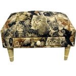 Rectangular Cat Footstool with Drawer