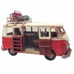 Red Campervan Metal Model with Open Door