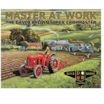 Red David Brown Cropmaster Tractor Metal Wall Sign 40 cm x 30 cm