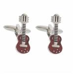 Red Epoxy Guitar Cufflinks
