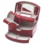 Red Medium Lockable Auto Tray Jewellery Box