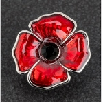 Red Poppy Pin Brooch or Tie Pin