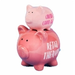 Retail Therapy Double Stacked Piggy Bank