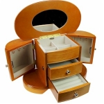 Rich Oak and Burl Skye Jewellery Box