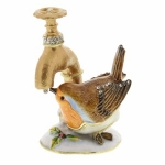 Robin Drinking from Tap Trinket Box