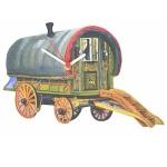 Romany Gypsy Traveller Caravan Clock