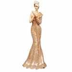 Rose Gold Standing Lady Figurine