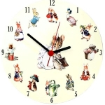 Round Beatrix Potter Peter Rabbit Clock