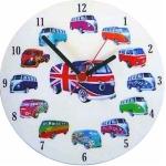 Round Camper Van Clock