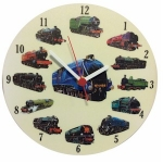 Round Locomotive Clock