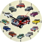 Round Mini Collage Clock