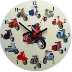 Round Scooter Clock