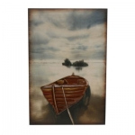 Rowing Boat Wooden and Metal Wall Art