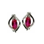 Ruby Marquise Cut Stud Earrings