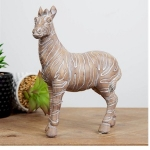 Sandstone Effect Standing Zebra Ornament