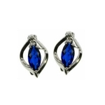 Sapphire Marquise Cut Stud Earrings