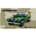 Series 1 Landrover Metal Wall Sign 40 cm x 30 cm