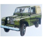 Series Two Land Rover Wooden Jumbo Fridge Magnet
