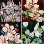 Set of Four Garden Bouquet Coasters