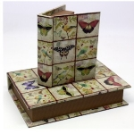 Set of Two Butterfly Small Storage Book Boxes