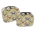 Set of Two Butterflies and Birds Small  Wooden Storage Cases