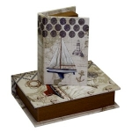 Set of Two Sailing Boats Book Small Storage Boxes