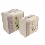 Set of Two Sophia Necklace Design Wooden Storage Boxes