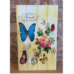 Shabby Chic Blue Butterfly Rectangular Key Box