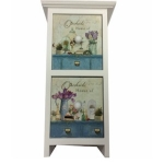 Shabby Chic Rectangular Two Drawer Mini Chest of Flowers