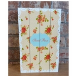 Shabby Chic Sweet Rose Rectangular Key Box