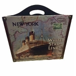 White Star Line Shipping New York Magazine Rack