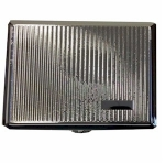 Silver Barley Lined Double Cigarette Case