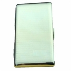 Small Silver Barley Lined Single Cigarette Case