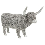 Silver Large Highland Cow Ornament